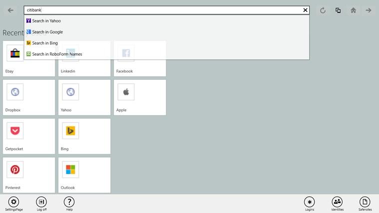 RoboForm screen shot 7