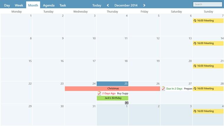 WinPIM Calendar screen shot 3