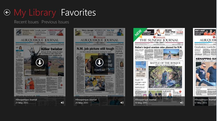 ABQ Journal screen shot 1