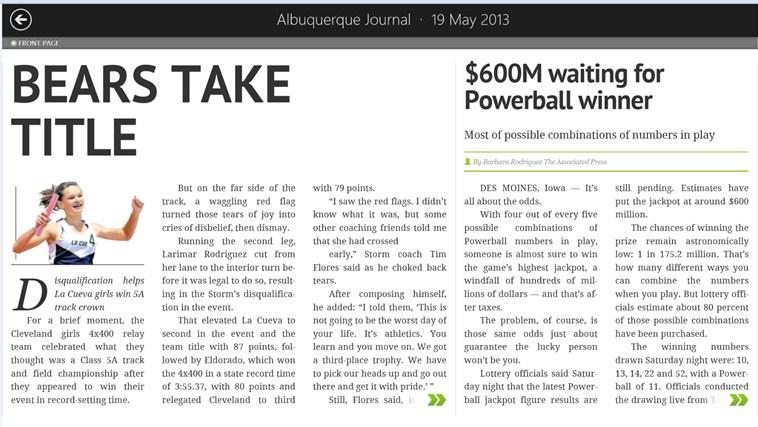 ABQ Journal screen shot 3