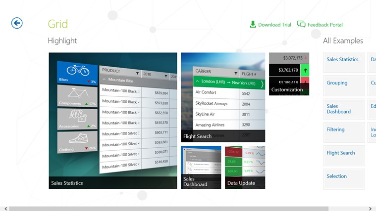 Telerik controls examples xaml app for windows in the for Telerik window