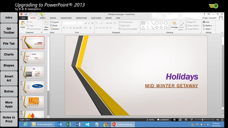 Upgrade to PowerPoint 2013 Tutorials screen shot 1