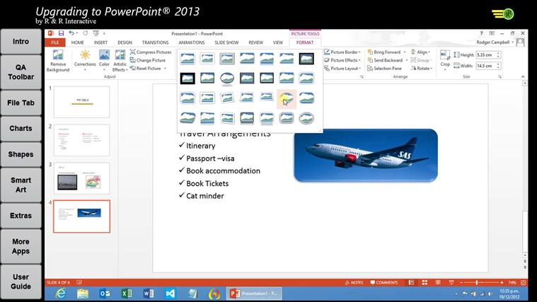 Upgrade to PowerPoint 2013 Tutorials screen shot 3