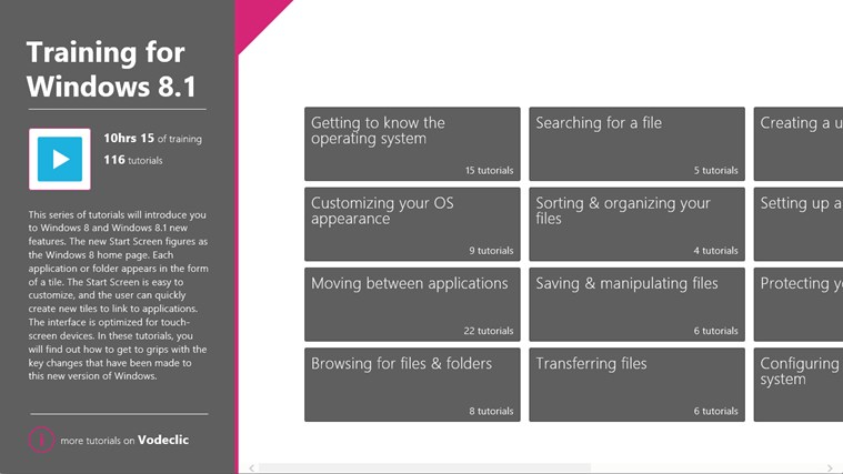 Training for Windows 8.1 screen shot 1