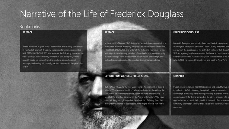 a book review of the narrative of the life of frederick douglass an 1845 memoir and treatise on abol Full text of catalogue of the books belonging to the mercantile library company of philadelphia: with a see other formats.