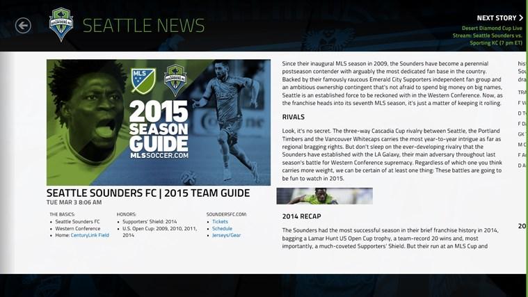 MLS MatchDay screen shot 5