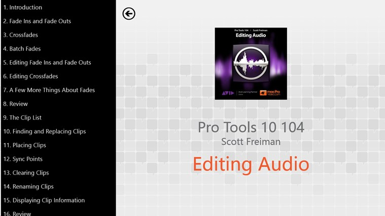 Pro Tools 10 104 - Editing Audio screen shot 1