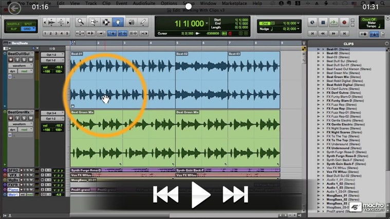 Pro Tools 10 104 - Editing Audio screen shot 3