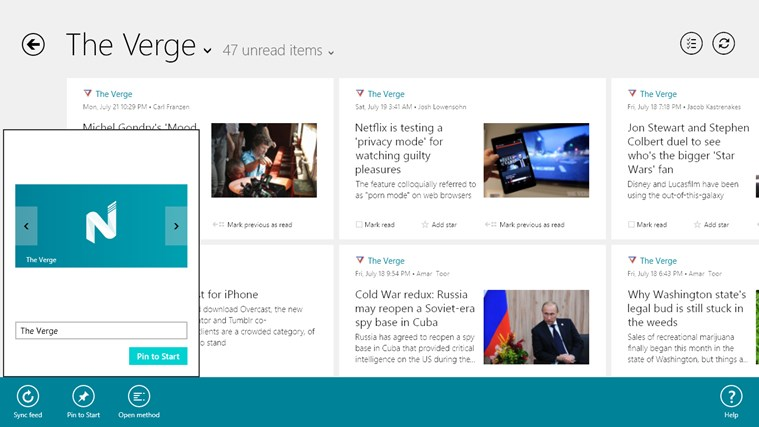 Nextgen Reader screen shot 1