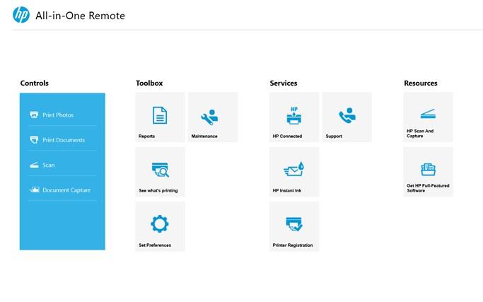 HP All-in-One Printer Remote screen shot 1