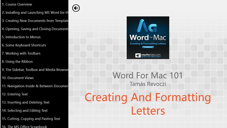 MS Word For Mac: Creating Letters screenshot 1