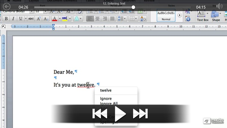 MS Word For Mac: Creating Letters screenshot 3