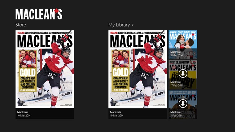 Maclean's screen shot 1