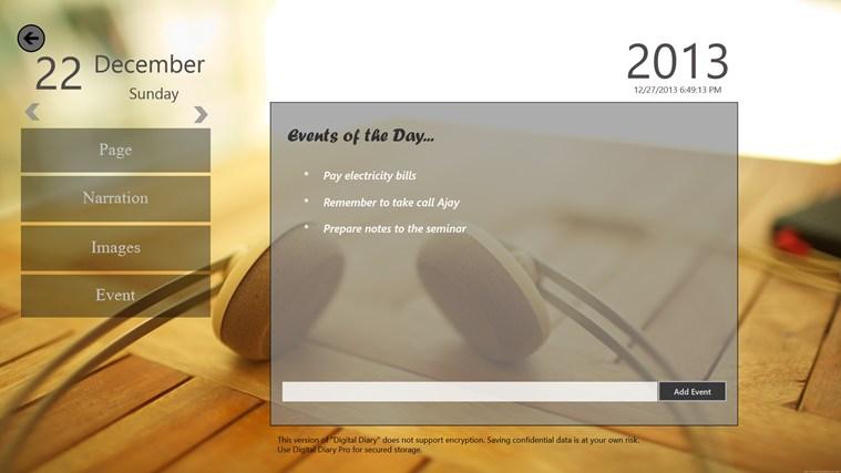 Digital Diary screen shot 5