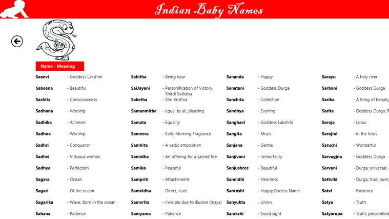 baby names provides an option to search indian baby names of both boy