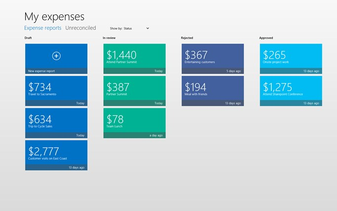 Dynamics AX 2012 Expenses screen shot 1