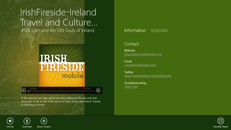 IrishFireside-Ireland Travel and Culture App gabháil scáileáin 1