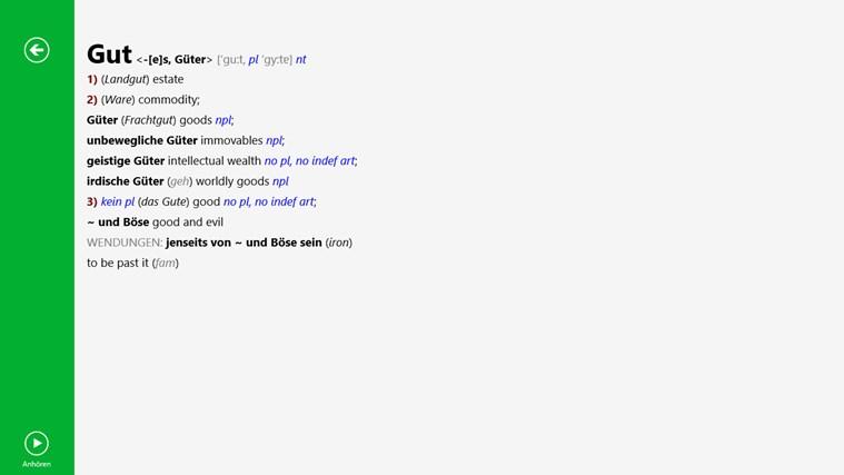 Wörterbuch Englisch <-> Deutsch ADVANCED von PONS Screenshot 3