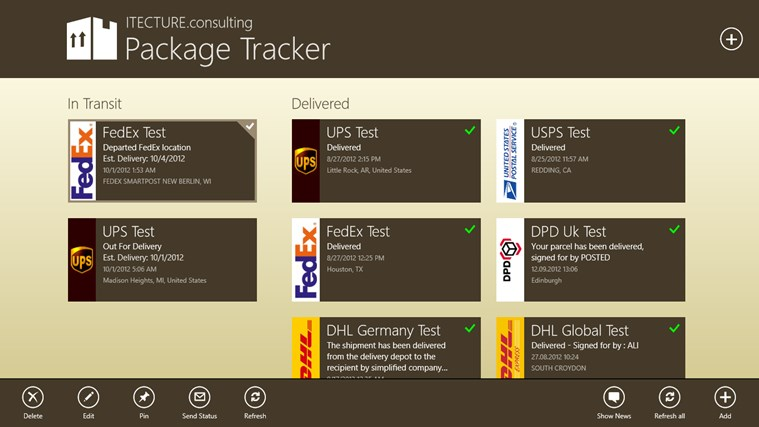 Package Tracker screen shot 7