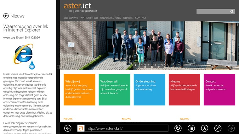 Aster ICT Nieuws screen shot 3