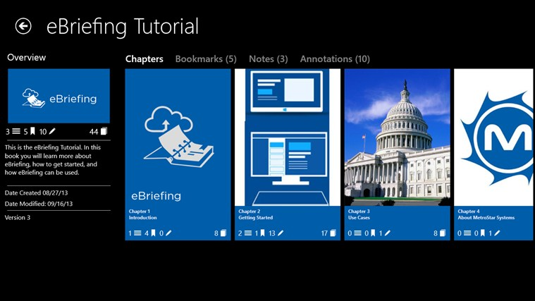 eBriefing screen shot 3