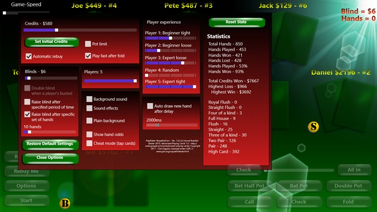 PlayPoker - Texas Hold'em screen shot 1