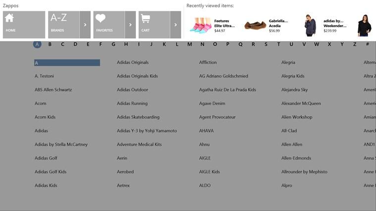 Zappos.com screen shot 5