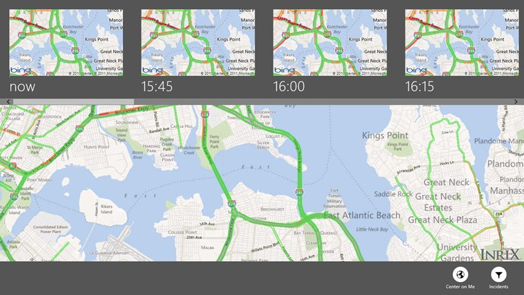 INRIX Traffic screen shot 1