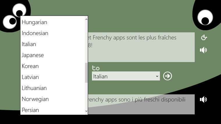 Nate & Frenchy's Translator screen shot 3