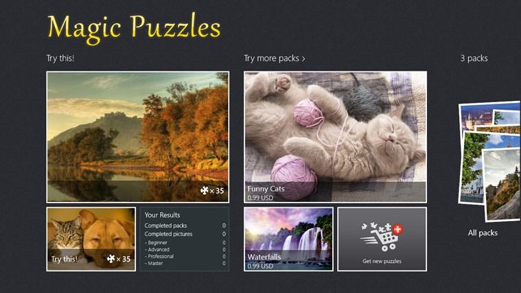 Magic Jigsaw Puzzles screen shot 1