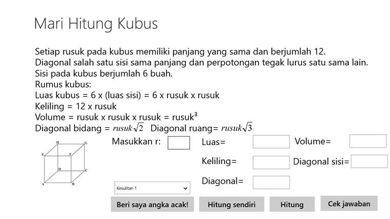 Mari Hitung Kubus screenshot 1