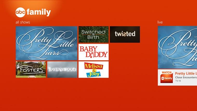 WATCH ABC Family screen shot 1