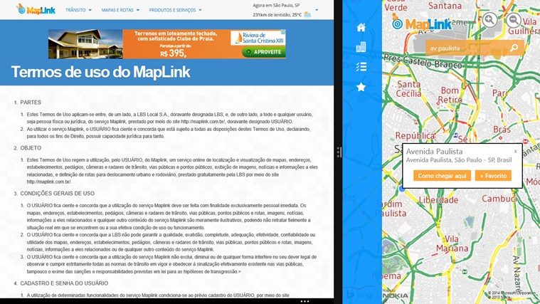 Maplink Transito Agora screen shot 5