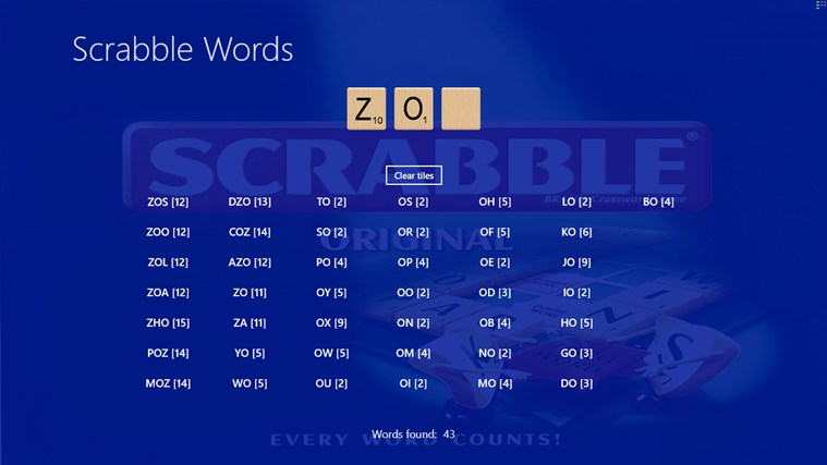 ScrabbleWords screen shot 1