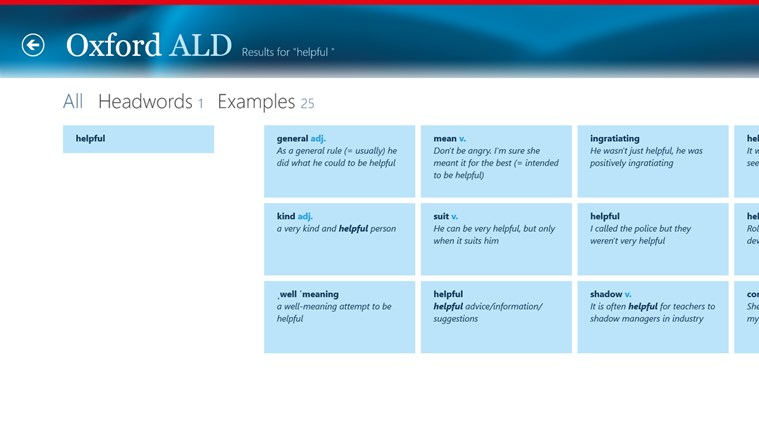 Oxford Advanced Learner's Dictionary, 8th edition Screenshot 5