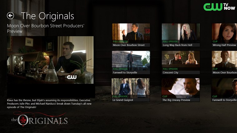 The CW screen shot 1