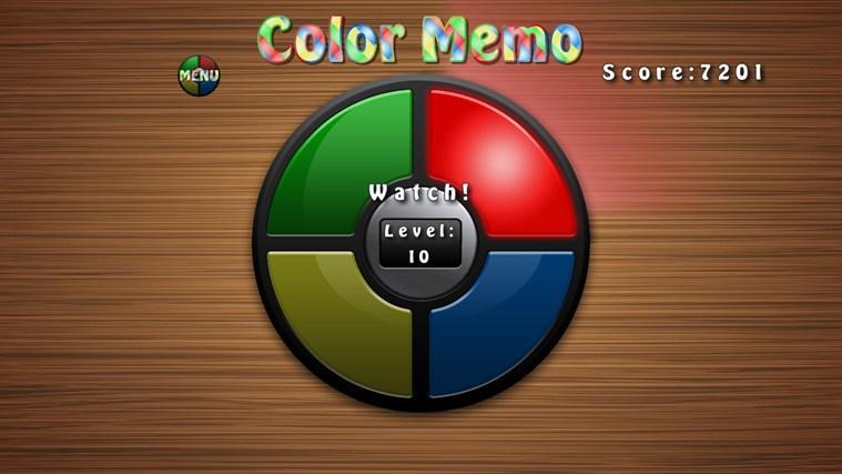 Color Memo screen shot 1