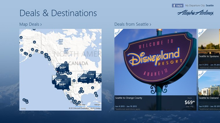 Alaska Airlines Deals & Destinations screen shot 1