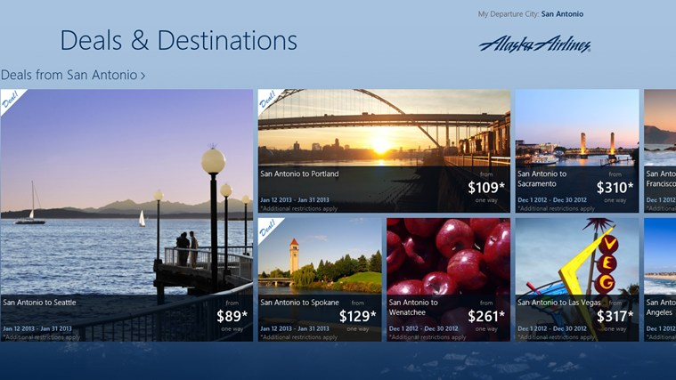 Alaska Airlines Deals & Destinations screen shot 3