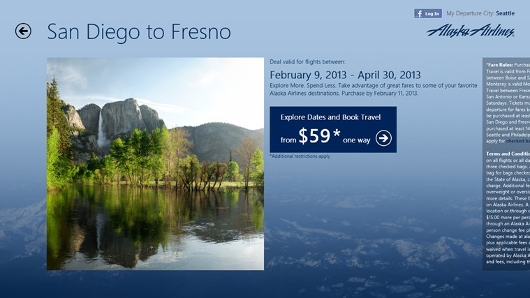 Alaska Airlines Deals & Destinations screen shot 5