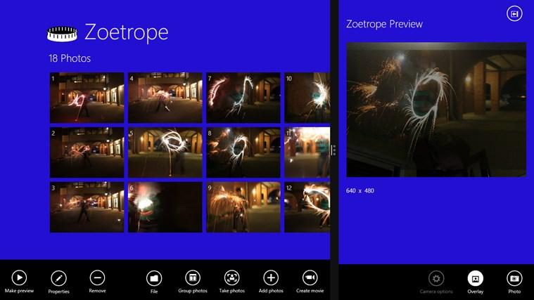 Zoetrope screen shot 1