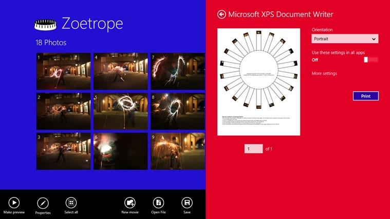 Zoetrope screen shot 3
