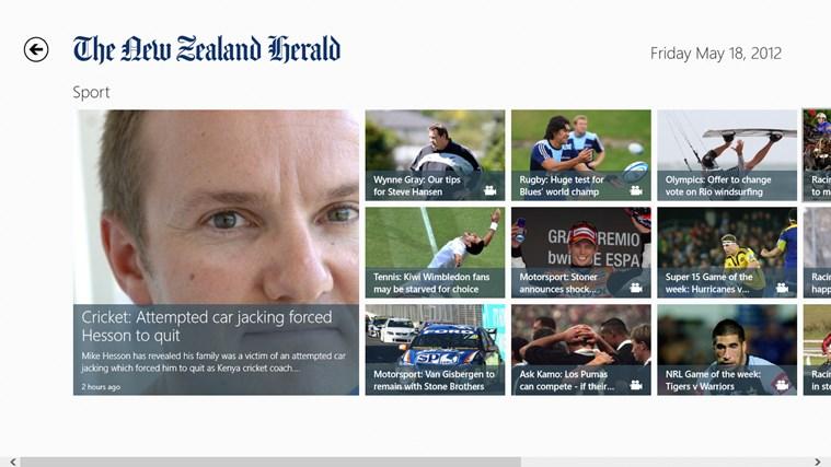 The New Zealand Herald screen shot 1