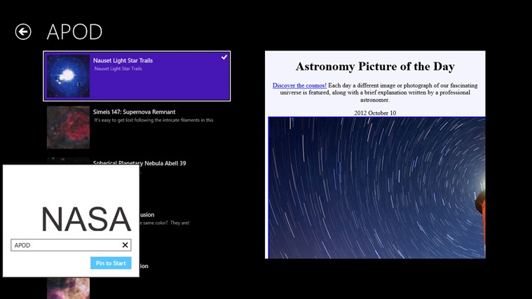 NASA News screen shot 1