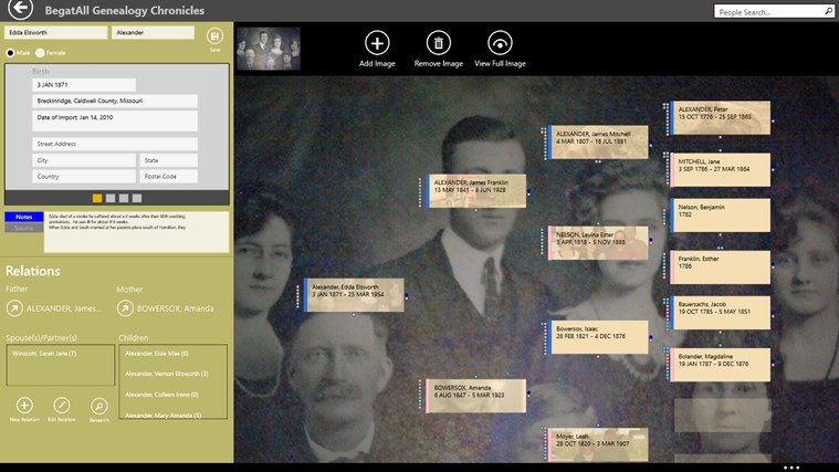 BegatAll Genealogy Chronicles screen shot 1