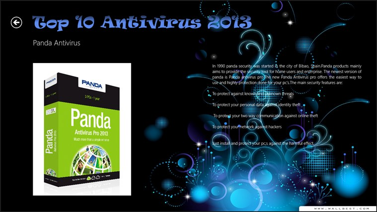 Top 10 Antivirus 2013 captura de pantalla 5
