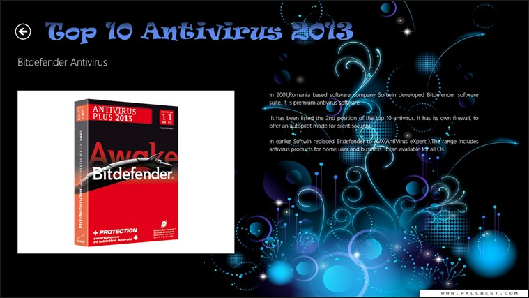 Top 10 Antivirus 2013 captura de pantalla 7