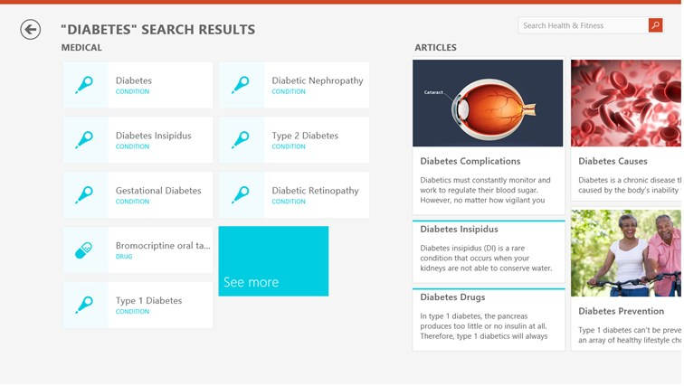Bing Health & Fitness screen shot 7