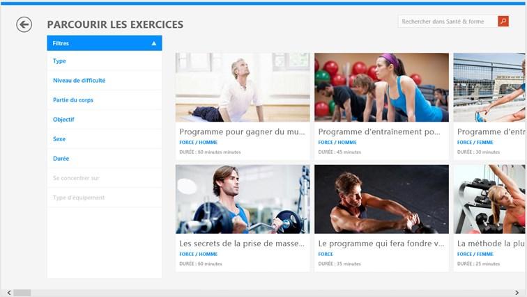 Bing Santé & Forme capture d'écran 1