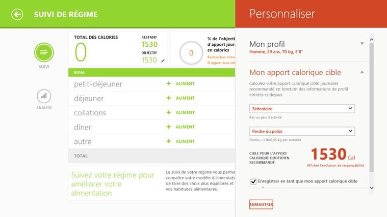 Bing Santé & Forme capture d'écran 5